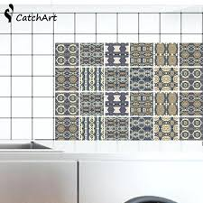 self adhesive ceramic wall tiles waterproof vintage self adhesive wall sticker floor sticker anti oil wallpaper color kitchen bathroom unibond ceramic wall