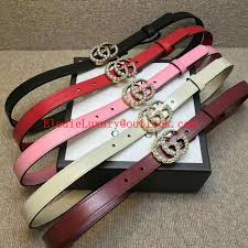 er gucci web leather belt with double g buckle men strap with box