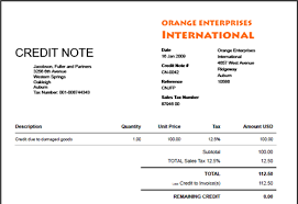 Credit Note Invoice Template Credit Memo Template 13 Free Word Excel ...