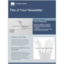 Example Of A News Letter Company Newsletter Template 19