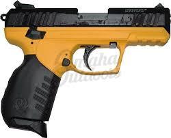 ruger sr22 yellow pistol 22 lr 10 rd