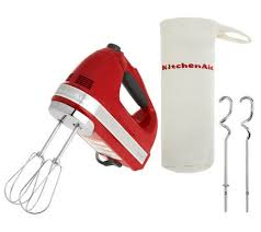 kitchenaid hand mixer blue. kitchenaid 721 series 7-speed digital hand mixer w/ bag \u0026 dough hooks kitchenaid blue
