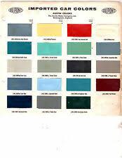 Austin Healey Color Chart 1960 Austin Healey 3000