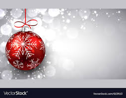 Christmas Background Silver Christmas Background With Red Ball