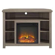 corner tv stand with fireplace. senecaville corner 44\ tv stand with fireplace