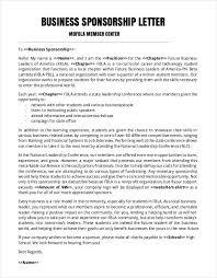 Event Sponsorship Letter Example Gorgeous 48 Sponsorship Letter Templates PDF DOC Free Premium Templates