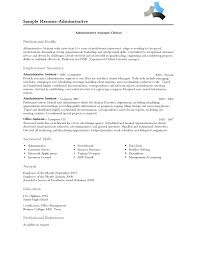 Fascinating Resume Career Summary Examples Administrative With ...