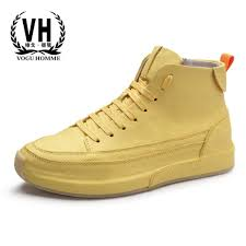 new autumn winter british retro high top leisure shoes men real leather sneaker boots all match