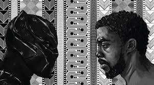 Black Panther King Tchalla Vector Portrait Collab On Risd Portfolios