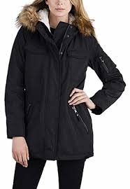 S13 Coat Size Chart S13 New York Ladies Sherpa Lined Anorak Jacket Black With
