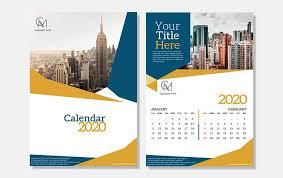 Photoshop Calendar Template 2020 Aria Creative Calendar Design Template Free Psd File