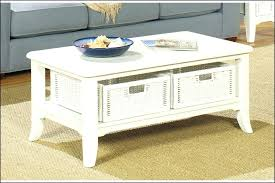 lovable white end table with storage end coffee table with storage baskets
