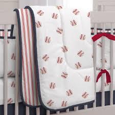 109 00 red and navy baseball crib comforter