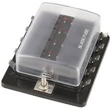 10 way blade fuse block with led indicators jaycar electronics 10 way blade fuse box 10 way blade fuse block with led indicators