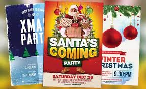 Free Christmas Flyer Templates Download Best 35 Free Flyer Templates For Christmas Party Events For