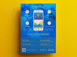Mobile Application Phone App Flyer Ad Template 2 By