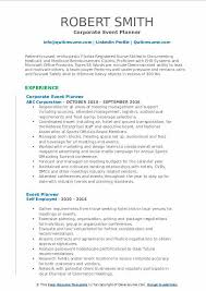 Event Planner Resume Objective Event Planner Resume Samples Qwikresume