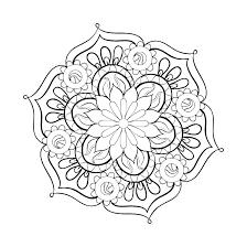 Free Printable Mandala Coloring Pages Easy Mandala Coloring Pages