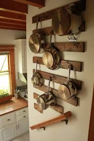 Kitchen hanging rack Ceiling Kitchenkitchen Hanging Rack Ideas With Stainless Steel Sauce Pot And Frying Pan Also Good Looking Pot Rack Design And Wall Mounted Brown Varnished Wooden Pinterest Kitchenkitchen Hanging Rack Ideas With Stainless Steel Sauce Pot