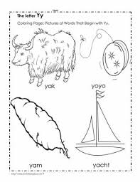 Free interactive exercises to practice online or download as pdf to print. The Letter Y Coloring Pictures Worksheets