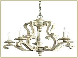 distressed white wood chandelier antique orb washed bead pendant light