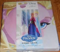 アメリカ disney jumping beans frozen sisters forever anna elsa shower curtain princess