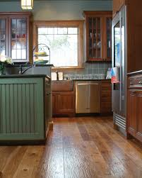 Best Hardwood Floors For Kitchens Hickory Kitchen Cabinets With Black Island Dark Wood Cabinetry
