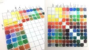 Tempo Mixing Chart Watercolor Color Charts Byadrianaoliveira