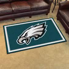 philadelphia eagles area rug 4 x 6 nylon