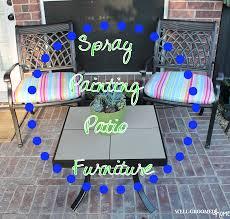 painting patio furniture