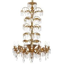antique french ormolu and cut glass twelve light chandelier
