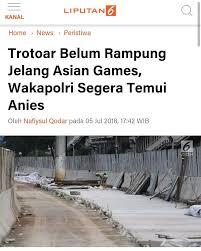 Menteri Basuki Jalan Kaki 3 Km, Anies Disindir Cuek Asian Games