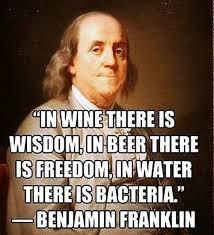 Happy Birthday Benjamin Franklin Franklin Liquors Beauteous Ben Franklin Beer Quote