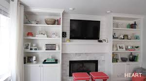 Built In With Fireplace Diy Built Ins Part 2 Withheart Youtube