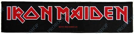 Nášivka Nápis Iron Maiden Logo Prorockshop