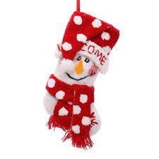 snowman christmas stockings. Interesting Snowman PolyesterAcrylic Hooked Christmas Stocking With 3D Snowman On Stockings S