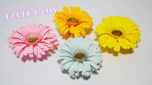 Daisy Paper Flower How To Make Flower Paper Daisy Paper Flower Crafts