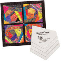Crazy Quilt Template Set and Book – Crazy quilting & SIMPLY CRAZY QUILT TEMPLATE Adamdwight.com