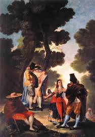 a walk in andalusia 1777 francisco de goya oil painting