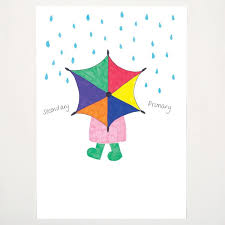Colour Chart Umbrella Primary Secondary Colors Craft