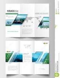 tri fold brochure business templates on both sides flat design tri fold brochure business templates on both sides flat design blue color travel decoration