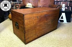antique wooden chest antique wooden chest vintage flat top blanket box a chests trunks view large