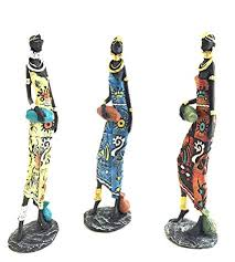 Tall statues for home decor Wood Image Unavailable Amazoncom Amazoncom Large African Tribal Lady Sculptures Figurines African