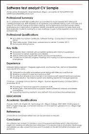 Testing Analyst Resume Under Fontanacountryinn Com