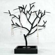 family tree necklace jewelry holder wooden hanger