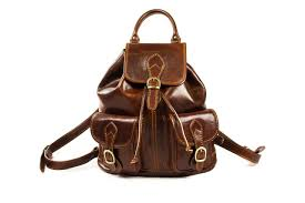 italian leather backpack brands