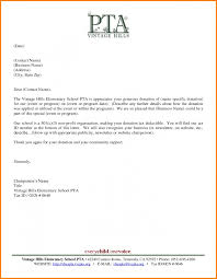 Pta Templates Pta Donation Thank You Letter Template Donor Sample Request For Copy