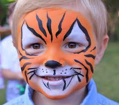 simple zebra face paint