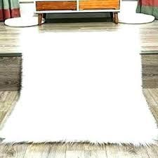 large fur rug white faux antique w