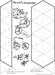 Hexaflexagon Template Hexaflexagons Vi Hart 1